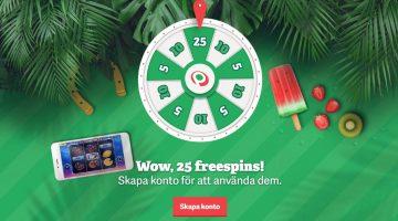 PAF ger alla nya medlemmar 25 free spins helt gratis